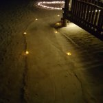 Pathway leading up to our beachside dinner