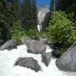 White water in Yosemite.