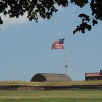 The flag that flies over Fort McHenry shows 15 stars for the states at the time of the War of 18