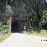 One of the many tunnels on the Hiawatha