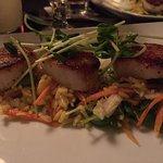 Scallops, there were six. This is a close up of three.