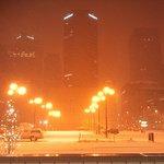 5am snowy street