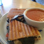 panini and bisque soup