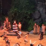 A scene in the production of Unto These Hills