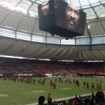 BC Place before a BC Lions game