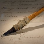 Henry Lawson's pen in the Treasures Gallery