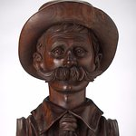 Henry Lawson bust in the Treasures Gallery
