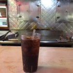 The VERY CLEAN grill (and my diet coke)
