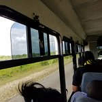Air-conditioned bus but we needed the windows open
