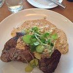 Steak with mustard sauce