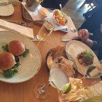 Haggis sliders and filet