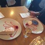 Cheesecake and chocolate/caramel tart