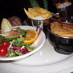Beef and Guiness caserole with side salad and chips ( lunch special)