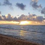 Sunrise on Beach at Resort