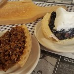 Pecan pie and fresh blueberry pie (seasonal)