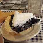 Fresh blueberry pie (seasonal) is delicious!