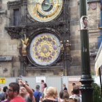 The Astronomical clock in the square just a few minutes walk away
