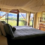 Beautiful bedroom with a view