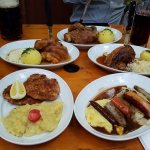 pork knuckles, sausages, schnitzel are all delicious
