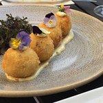 Seafood risotto balls