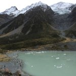 Someone attempting to take a swim in the Hooker lake.
