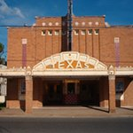 Front view of the Texas Theatre before renovations.