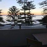 Ocean view room at sunrise