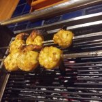 prawns on grill