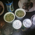 Soup and drinks