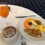 Free breakfast buffet - there are many more items than this