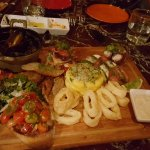 Antipasto with Seafood, Meats and Cheses
