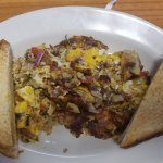 Pig Pen Scramble with toast