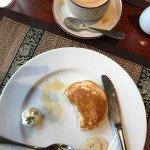 Breakfast buffet, part of my breakfast, pancake