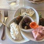 Cypriot starter mixed platter - huge and divine