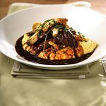 Tuscan Braised Venison with Wild Mushrooms and Polenta at Caffe Vivo