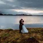 The bride and the groom at Thingvellir National Park