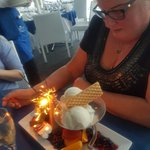 Birthday dessert to share