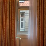 Our windows faced a wall. We could watch other hotel guests use their bathrooms