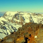 View of the High Atlas from the summit of Toubkal