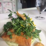 Salmon turnover - even it had flowers!