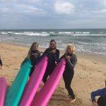 We had an amazing time learning to surf with some amazing instructors!