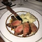 Bourbon steak with mashed potato