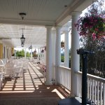 beautiful veranda, usually very busy