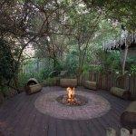 Firepit in garden