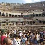 The inside of the Flavian Amphitheatre