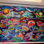 Colorful painting in Axure