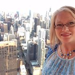 Sunshine over the city at 360 Chicago Observation Deck!