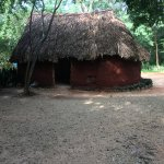 We see this authentic Mayan house while we walk to the ruins
