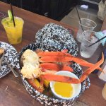 Seafood platter and Mango Mojito at the poolside bar! Absolutely delicious.