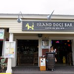 front of & entrance to Island Dogs Bar